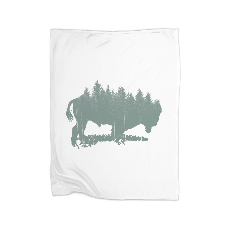 Bison Shag Tree Coat Home Fleece Blanket Blanket by CRANK. outdoors + music lifestyle clothing