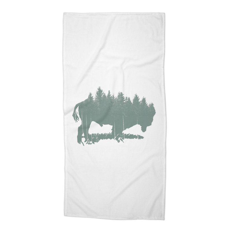 Bison Shag Tree Coat Accessories Beach Towel by CRANK. outdoors + music lifestyle clothing