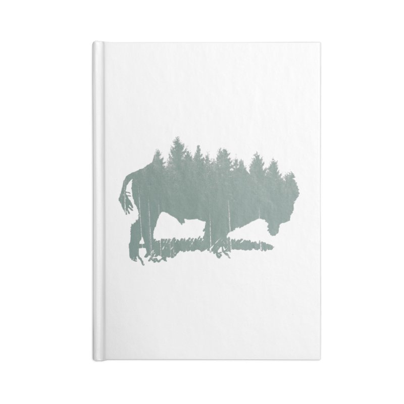 Bison Shag Tree Coat Accessories Lined Journal Notebook by CRANK. outdoors + music lifestyle clothing