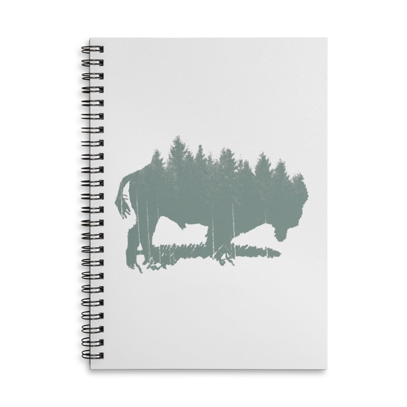 Bison Shag Tree Coat Accessories Lined Spiral Notebook by CRANK. outdoors + music lifestyle clothing