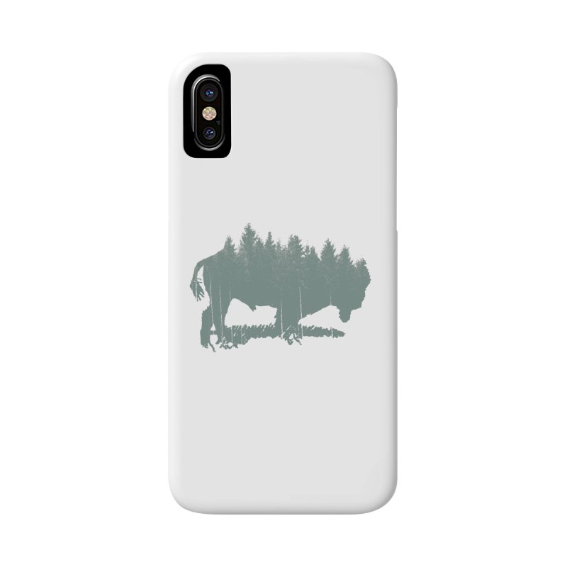 Bison Shag Tree Coat Accessories Phone Case by CRANK. outdoors + music lifestyle clothing