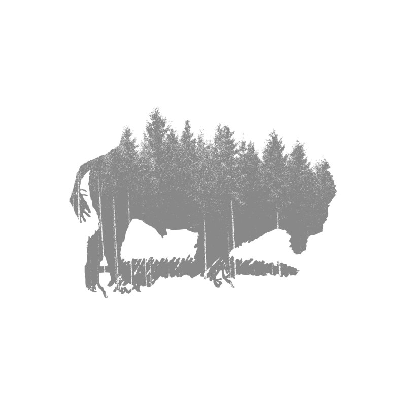Bison for the Trees Home Stretched Canvas by CRANK. outdoors + music lifestyle clothing