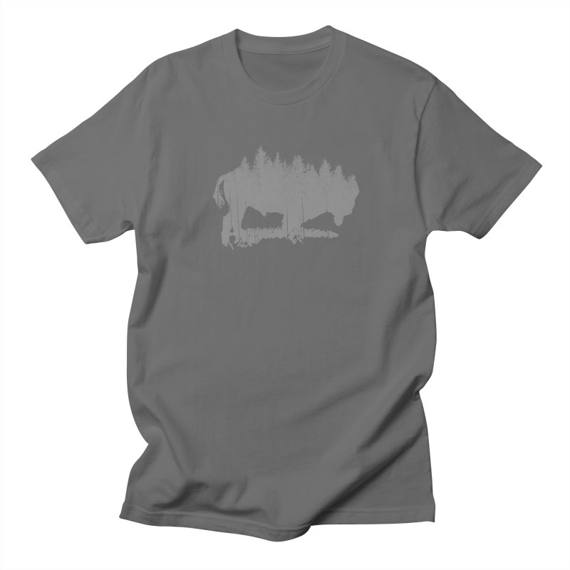 Bison for the Trees in Men's Regular T-Shirt Asphalt by CRANK. outdoors + music lifestyle clothing