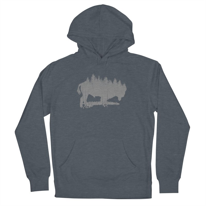 Bison for the Trees Men's French Terry Pullover Hoody by CRANK. outdoors + music lifestyle clothing