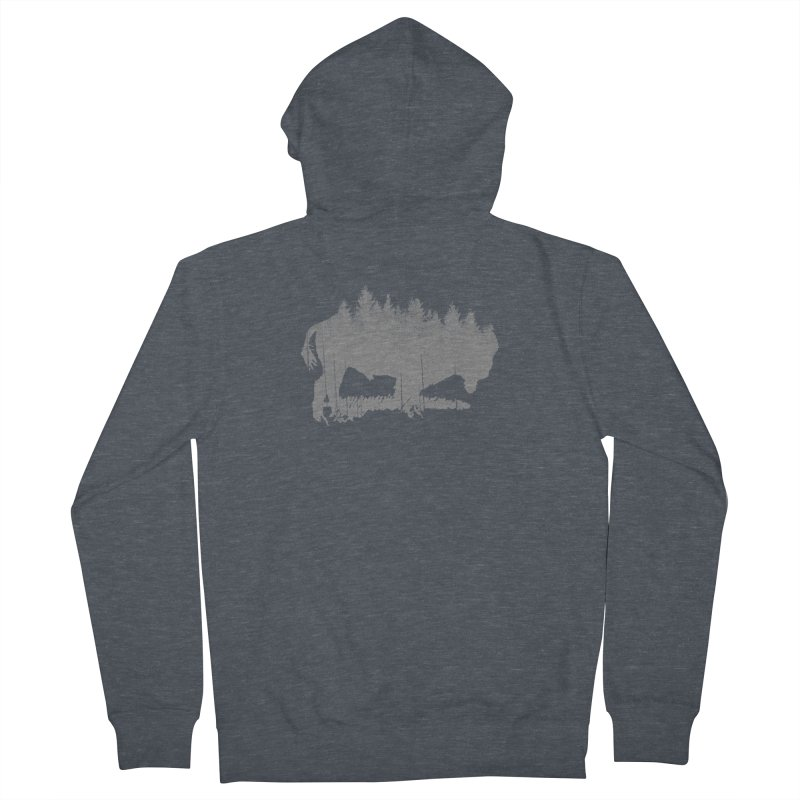 Bison for the Trees Women's Zip-Up Hoody by CRANK. outdoors + music lifestyle clothing