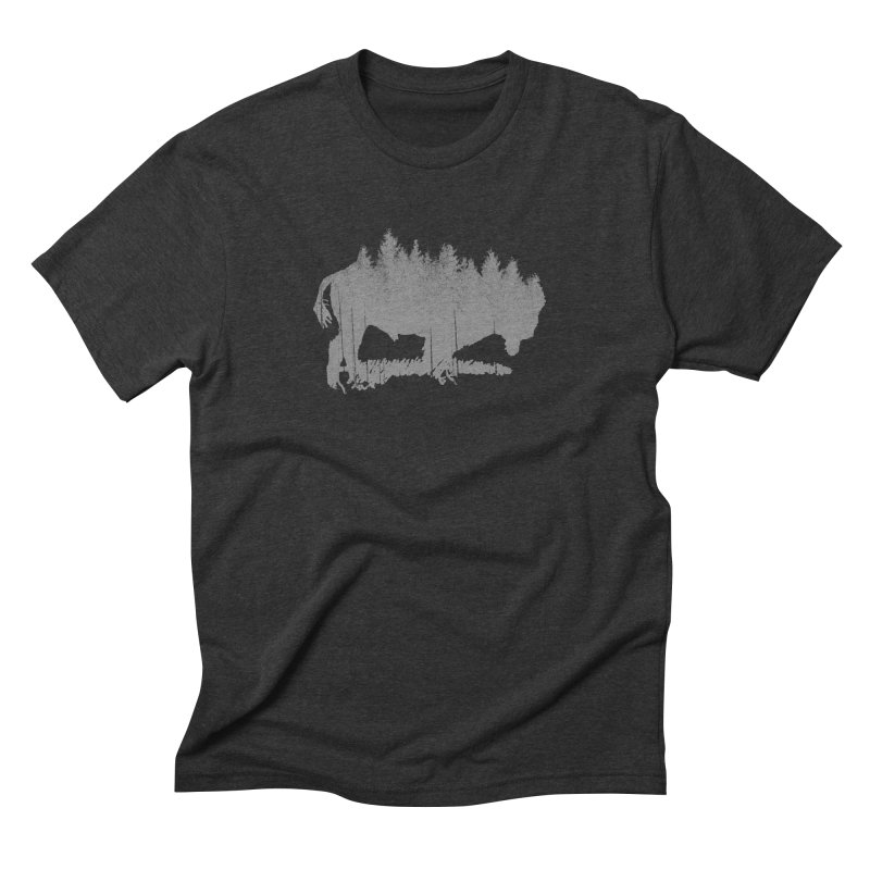 Bison for the Trees Men's Triblend T-Shirt by CRANK. outdoors + music lifestyle clothing