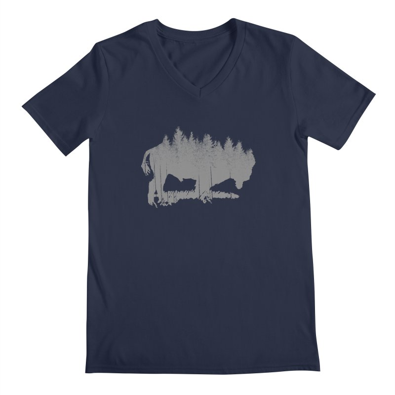 Bison for the Trees Men's V-Neck by CRANK. outdoors + music lifestyle clothing