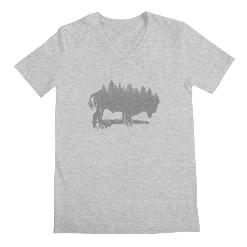 Bison for the Trees Men's Regular V-Neck by CRANK. outdoors + music lifestyle clothing