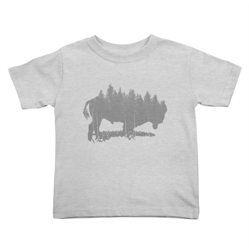 Bison for the Trees Kids Toddler T-Shirt by CRANK. outdoors + music lifestyle clothing