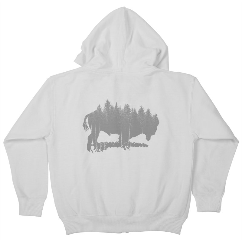 Bison for the Trees Kids Zip-Up Hoody by CRANK. outdoors + music lifestyle clothing