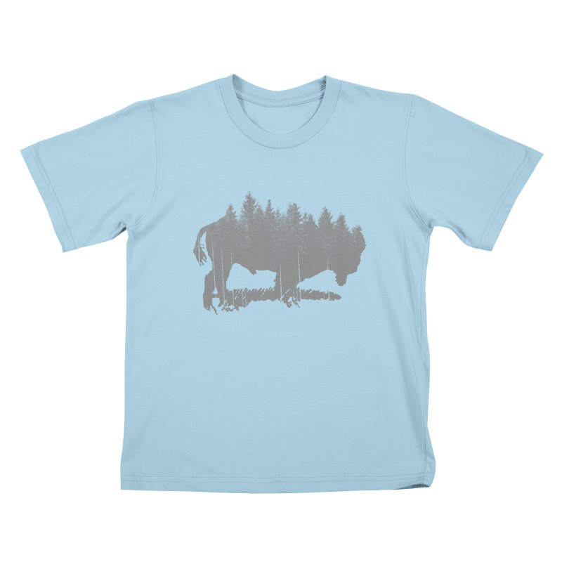 Bison for the Trees Kids T-Shirt by CRANK. outdoors + music lifestyle clothing
