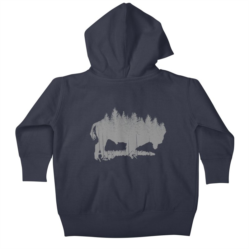 Bison for the Trees Kids Baby Zip-Up Hoody by CRANK. outdoors + music lifestyle clothing