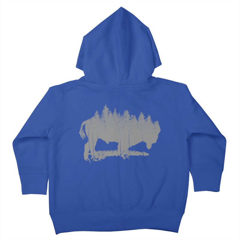 Bison for the Trees Kids Toddler Zip-Up Hoody by CRANK. outdoors + music lifestyle clothing
