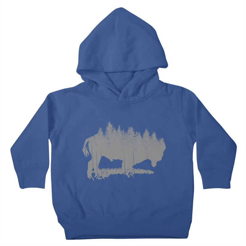 Bison for the Trees Kids Toddler Pullover Hoody by CRANK. outdoors + music lifestyle clothing
