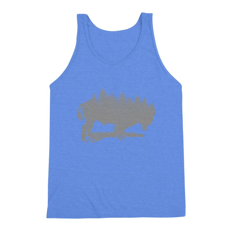 Bison for the Trees Men's Triblend Tank by CRANK. outdoors + music lifestyle clothing