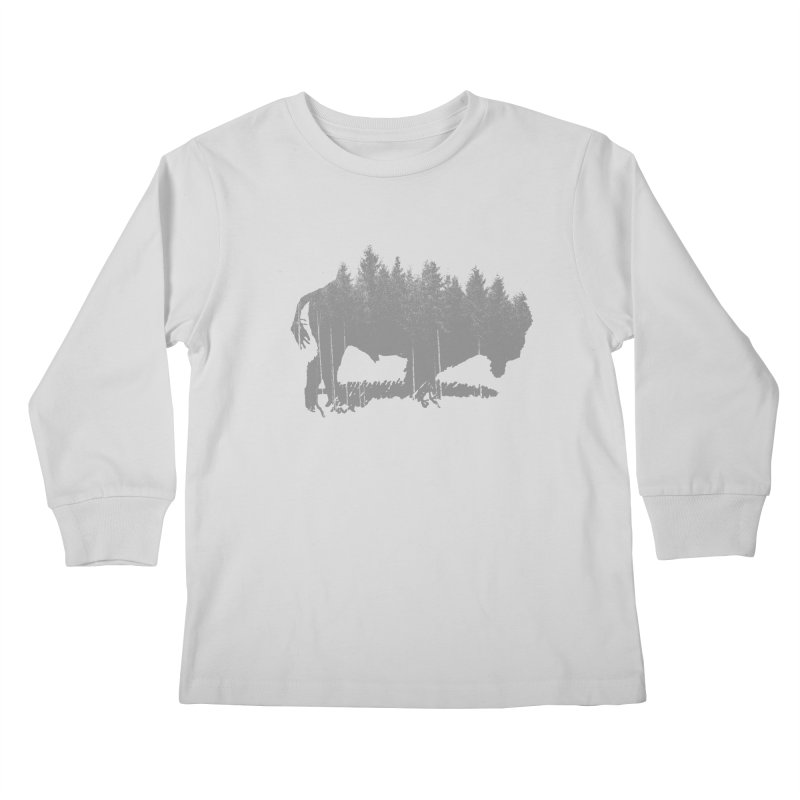 Bison for the Trees Kids Longsleeve T-Shirt by CRANK. outdoors + music lifestyle clothing