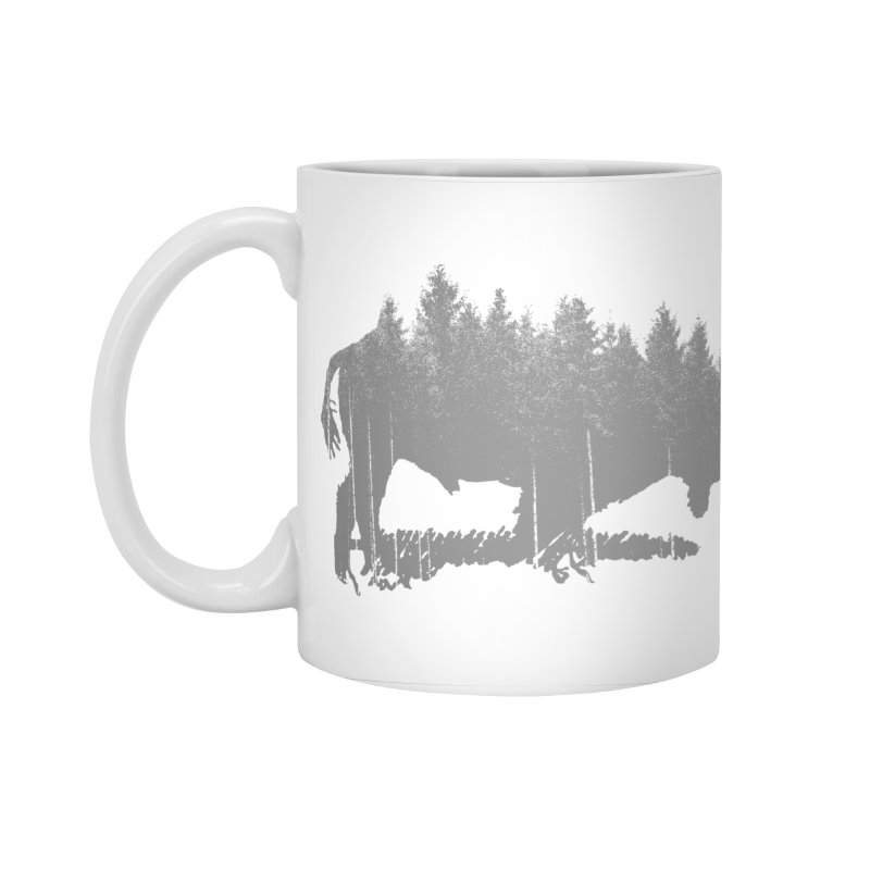 Bison for the Trees Accessories Standard Mug by CRANK. outdoors + music lifestyle clothing
