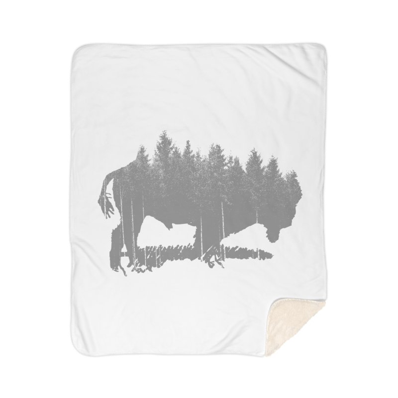 Bison for the Trees Home Sherpa Blanket Blanket by CRANK. outdoors + music lifestyle clothing