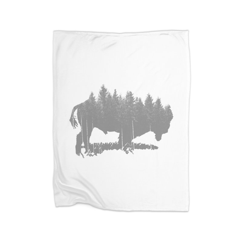 Bison for the Trees Home Fleece Blanket Blanket by CRANK. outdoors + music lifestyle clothing