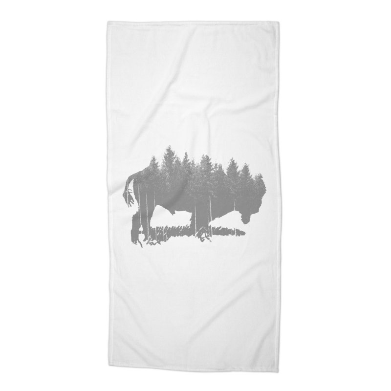 Bison for the Trees Accessories Beach Towel by CRANK. outdoors + music lifestyle clothing