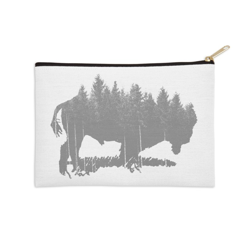 Bison for the Trees Accessories Zip Pouch by CRANK. outdoors + music lifestyle clothing