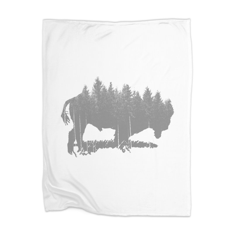 Bison for the Trees Home Blanket by CRANK. outdoors + music lifestyle clothing