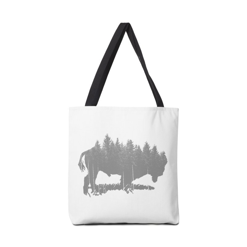 Bison for the Trees Accessories Tote Bag Bag by CRANK. outdoors + music lifestyle clothing