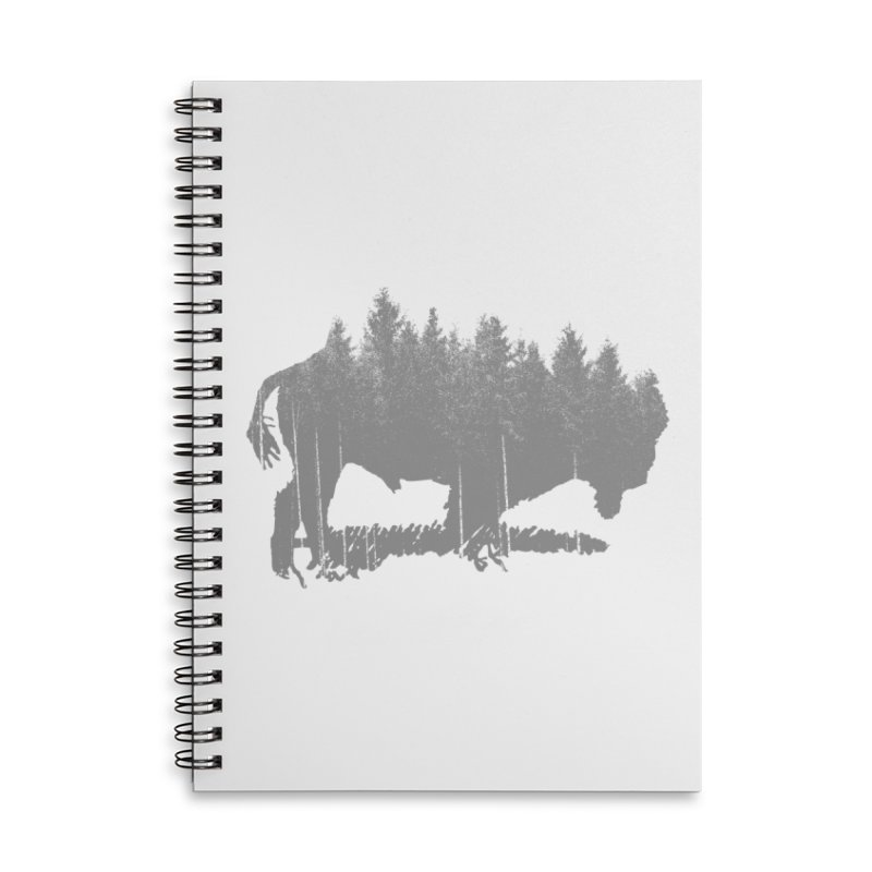 Bison for the Trees Accessories Lined Spiral Notebook by CRANK. outdoors + music lifestyle clothing