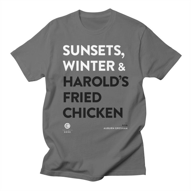 Fried Chicken in Auburn Gresham Men's T-Shirt by The Simple Good