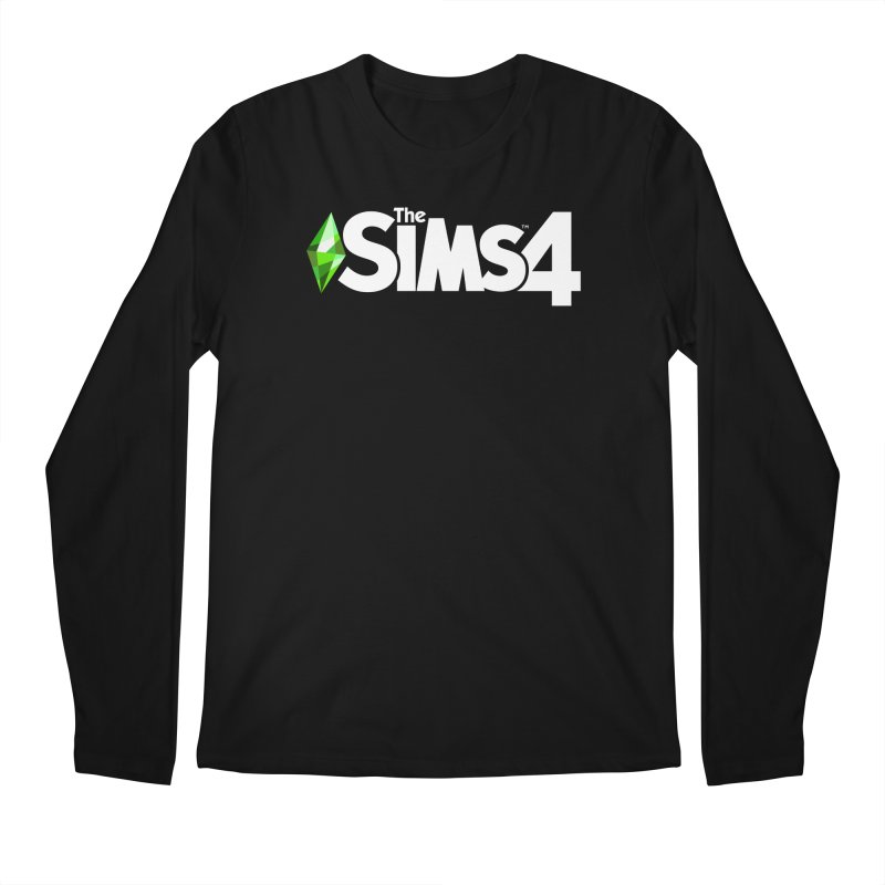 The Sims 4 Logo - White Men's Regular Longsleeve T-Shirt by The Sims Official Threadless Store