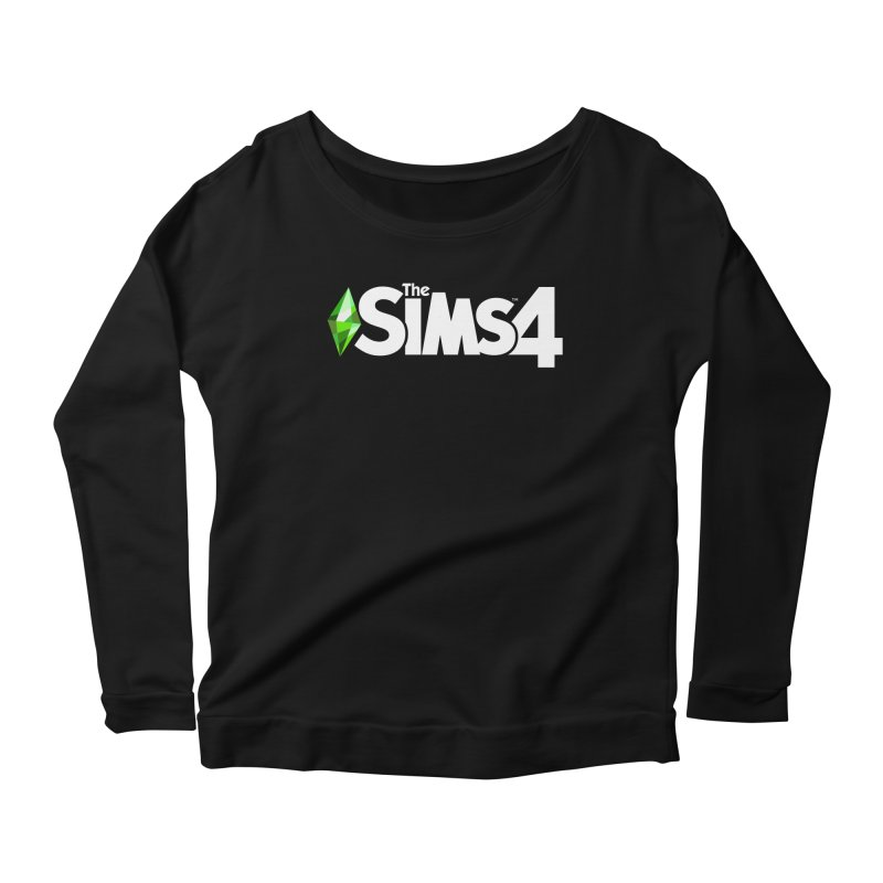 The Sims 4 Logo - White Women's Scoop Neck Longsleeve T-Shirt by The Sims Official Threadless Store