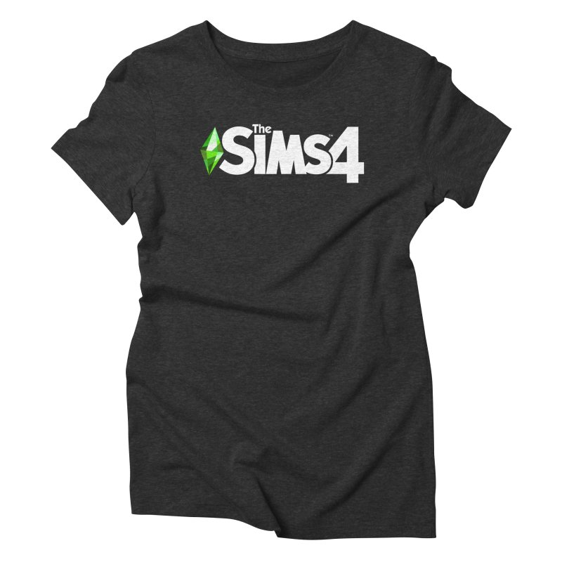 The Sims 4 Logo - White Women's Triblend T-Shirt by The Sims Official Threadless Store