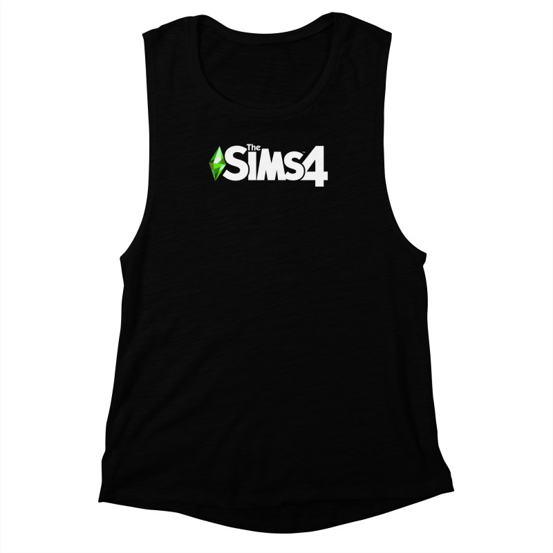 The Sims 4 Logo - White Women's Muscle Tank by The Sims Official Threadless Store