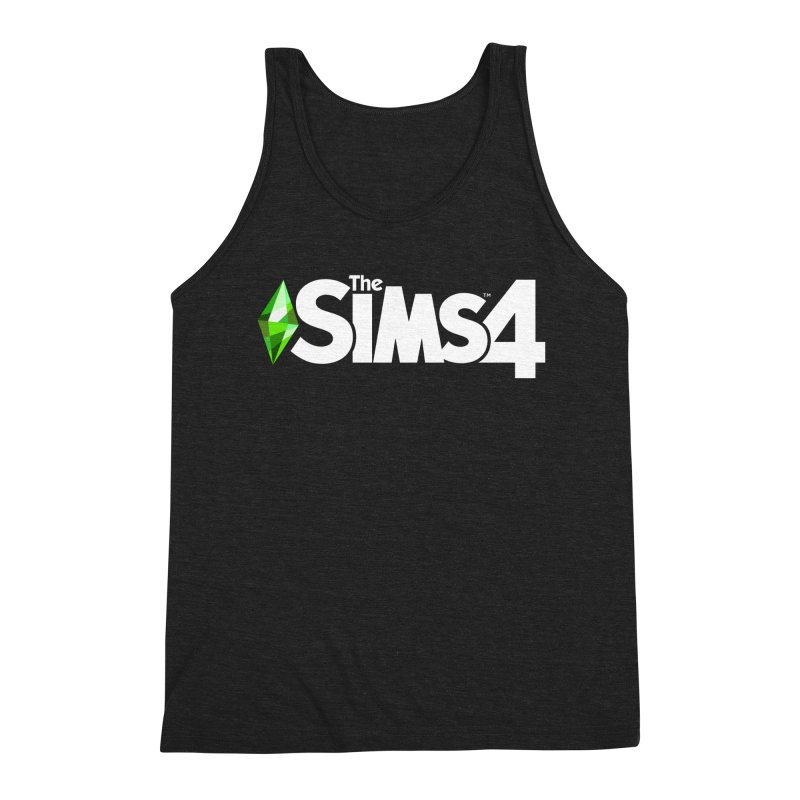 The Sims 4 Logo - White Men's Triblend Tank by The Sims Official Threadless Store