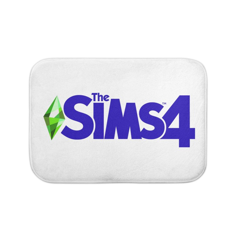 The Sims 4 Logo - Blue Home Bath Mat by The Sims Official Threadless Store
