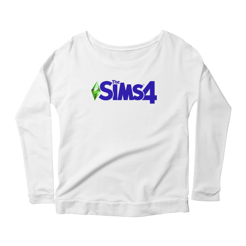 The Sims 4 Logo - Blue Women's Scoop Neck Longsleeve T-Shirt by The Sims Official Threadless Store