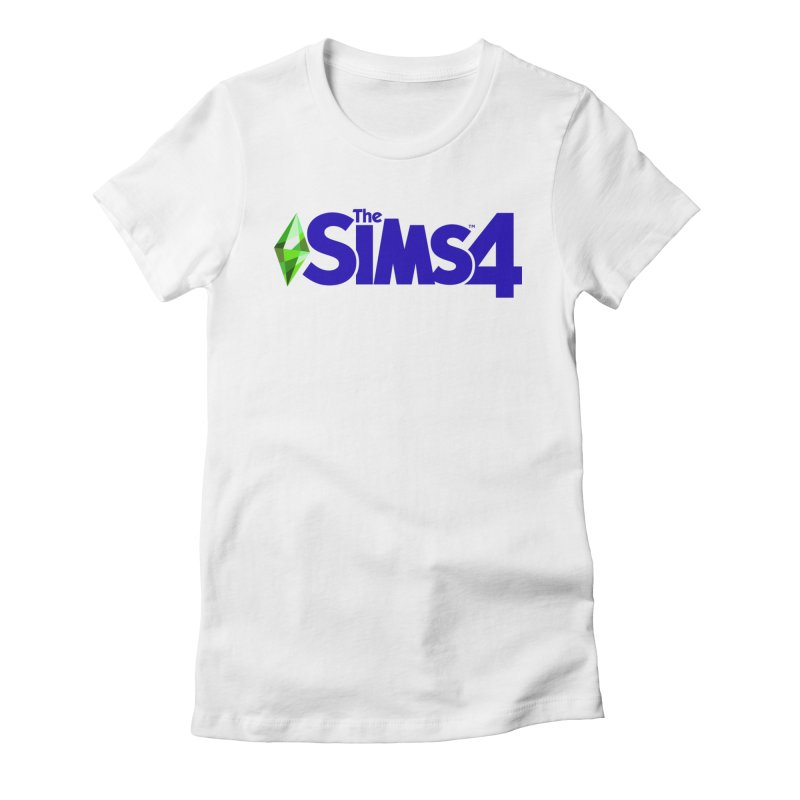 The Sims 4 Logo - Blue Women's Fitted T-Shirt by The Sims Official Threadless Store