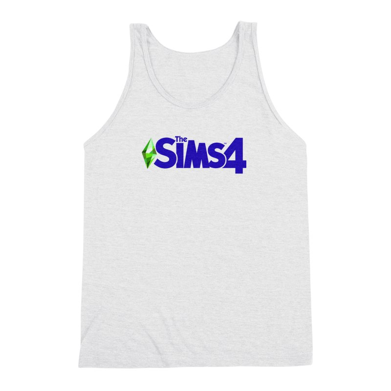 The Sims 4 Logo - Blue Men's Triblend Tank by The Sims Official Threadless Store