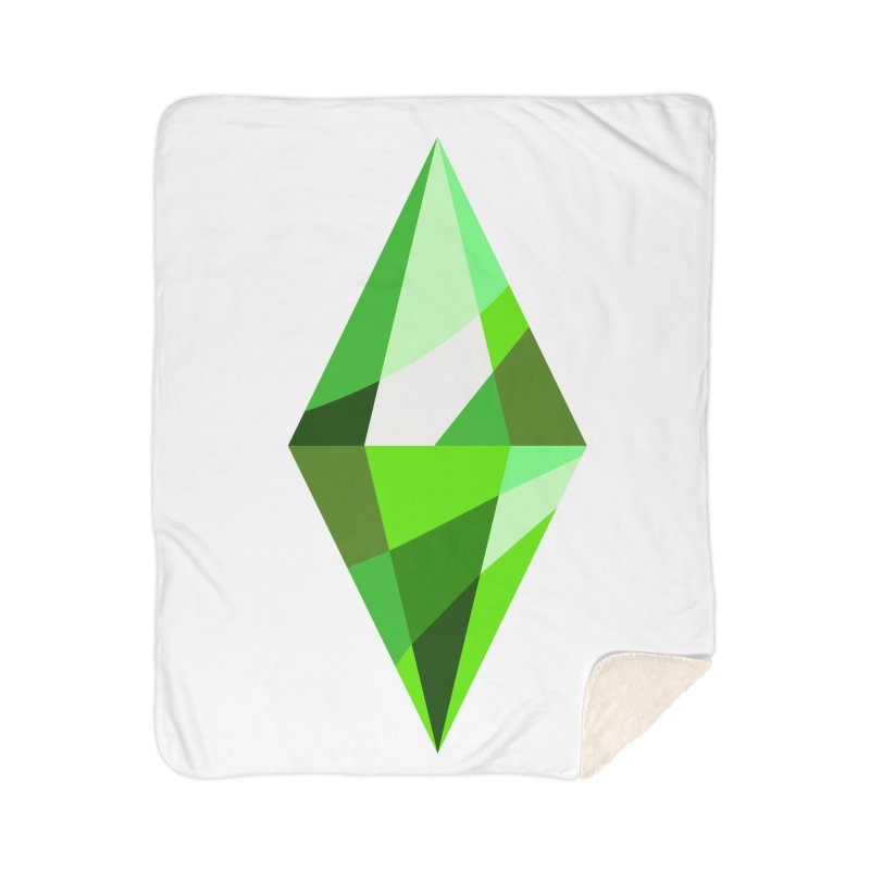 The Sims 4 Plumbob Home Sherpa Blanket Blanket by The Sims Official Threadless Store