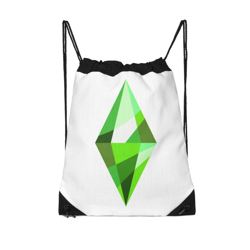 The Sims 4 Plumbob Accessories Drawstring Bag Bag by The Sims Official Threadless Store