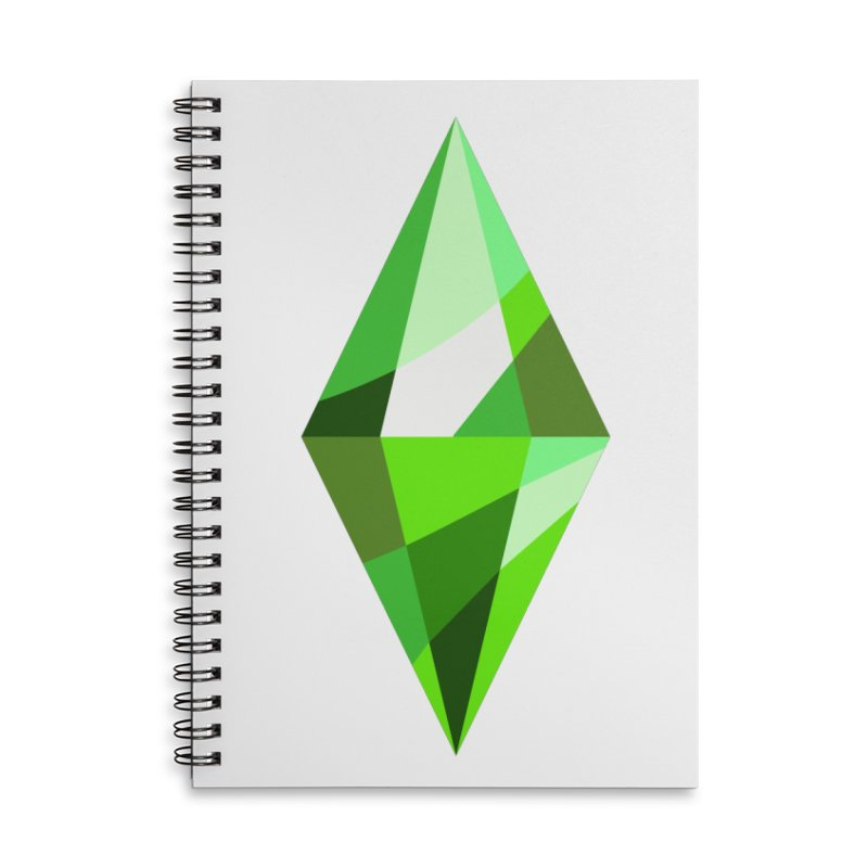 The Sims 4 Plumbob Accessories Lined Spiral Notebook by The Sims Official Threadless Store
