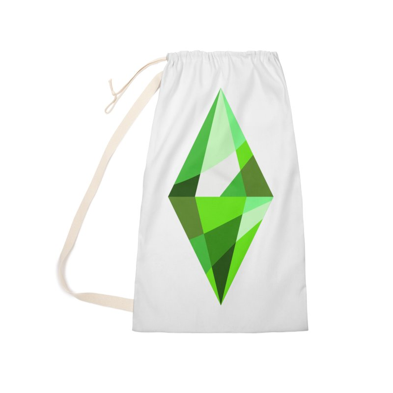 The Sims 4 Plumbob Accessories Laundry Bag Bag by The Sims Official Threadless Store