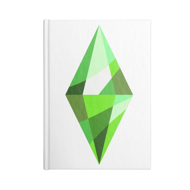 The Sims 4 Plumbob Accessories Lined Journal Notebook by The Sims Official Threadless Store