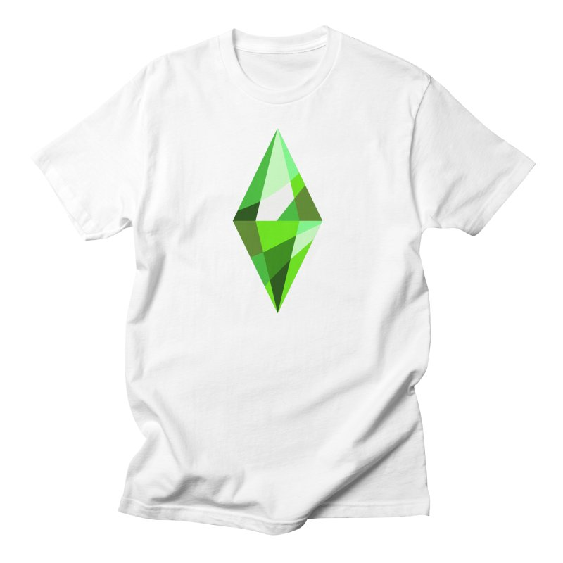 The Sims 4 Plumbob in Men's Regular T-Shirt White by The Sims Official Threadless Store