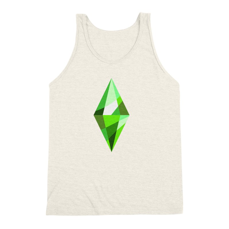 The Sims 4 Plumbob Men's Triblend Tank by The Sims Official Threadless Store
