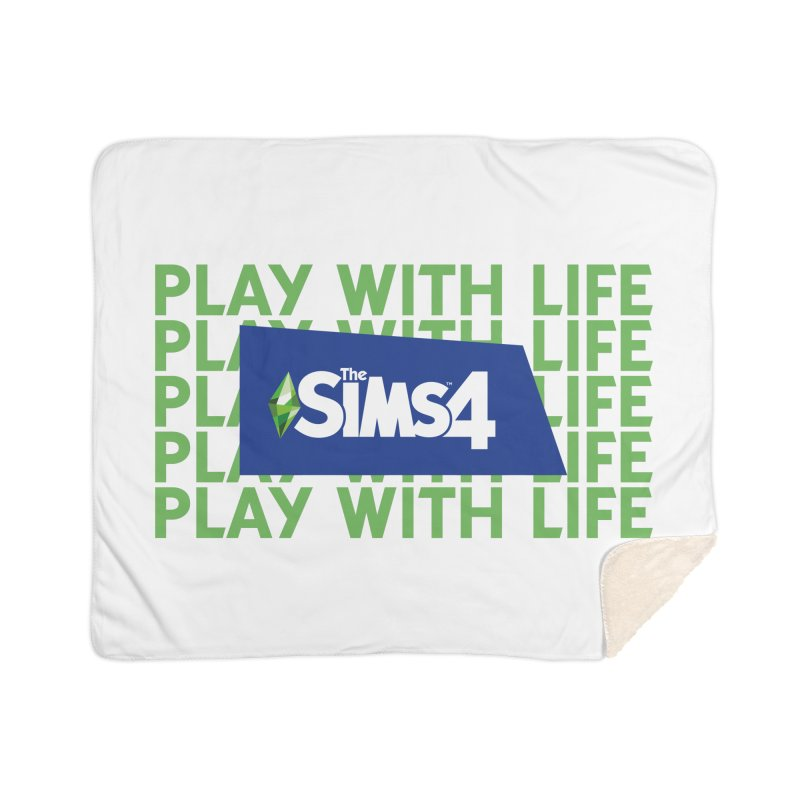 The Sims 4 Play With Life Home Sherpa Blanket Blanket by The Sims Official Threadless Store