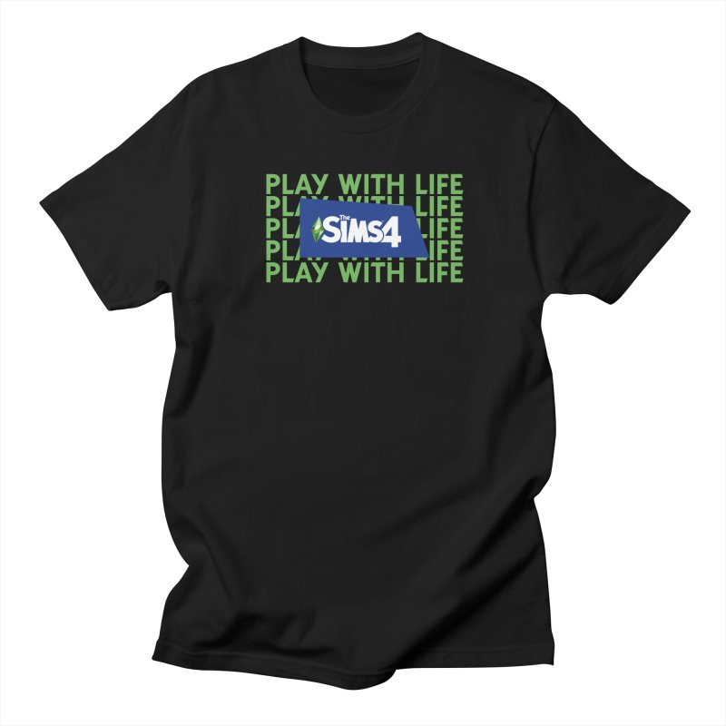 The Sims 4 Play With Life Men's Regular T-Shirt by The Sims Official Threadless Store