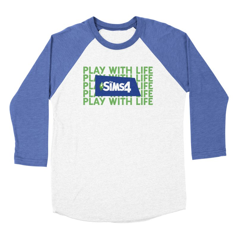 The Sims 4 Play With Life Women's Baseball Triblend Longsleeve T-Shirt by The Sims Official Threadless Store