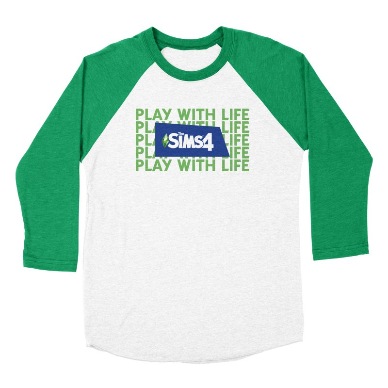 The Sims 4 Play With Life Men's Baseball Triblend Longsleeve T-Shirt by The Sims Official Threadless Store