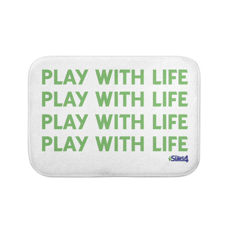 Play With Life Green Repeating in Green Home Bath Mat by The Sims Official Threadless Store